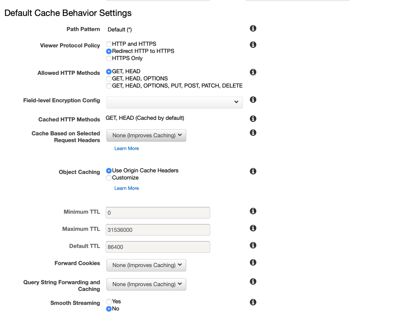 Cloudfront rediriger le HTTP vers HTTPS