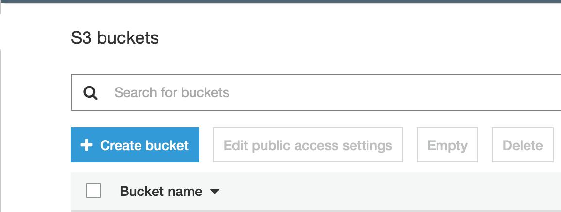 Create Bucket avec S3