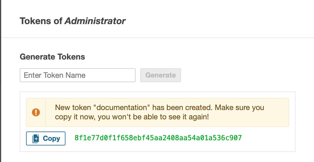 Générer un token sonarqube pour le compte administrateur