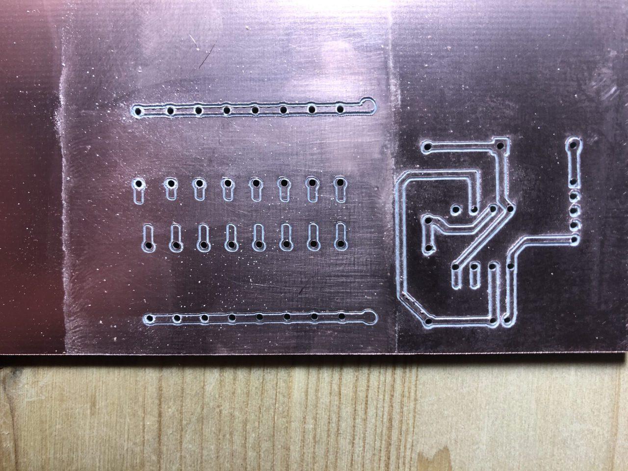 Résultat du milling PCB