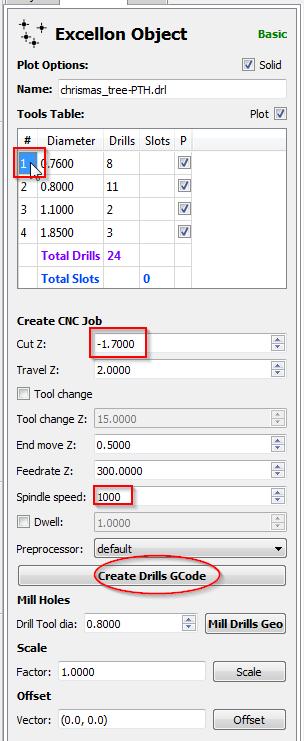 Sélection de l'index et choix du Z